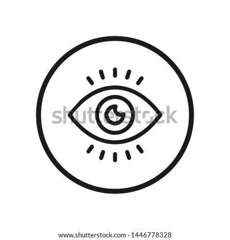 Eye icon vector. Look and Vision symbol. Eye logo design inspiration