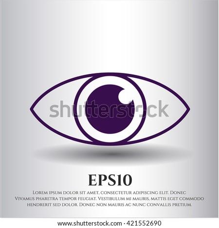 eye icon vector symbol flat eps jpg app web concept website
