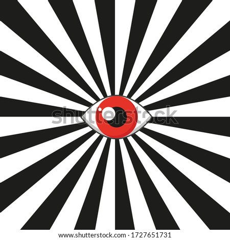 eye icon with red pupil