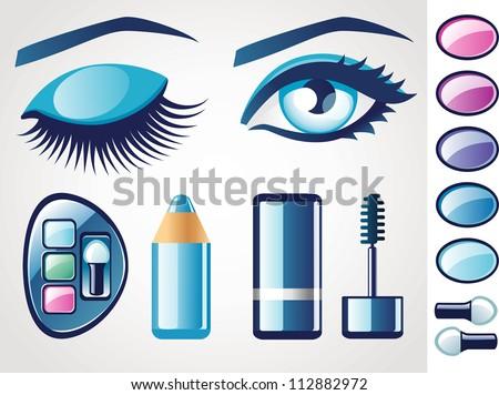 Eye icons - stock vector