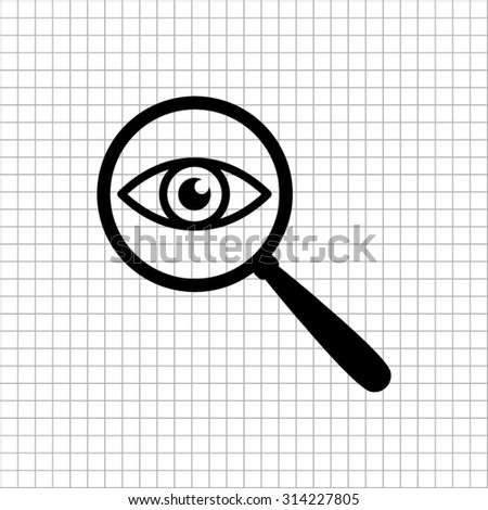 eye in magnification   vector