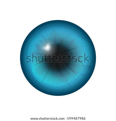 eye iris close up isolated in