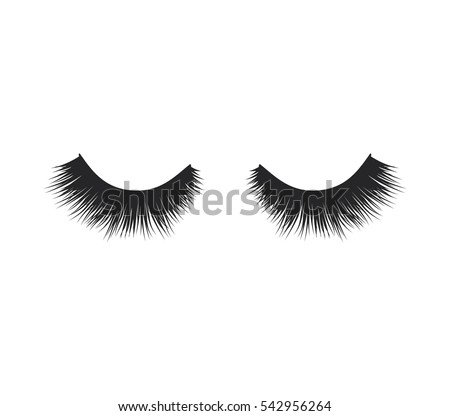 eye lashes vector icon lashes