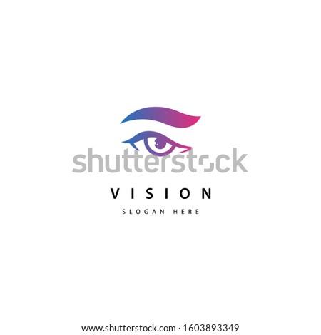 eye logo design vector template