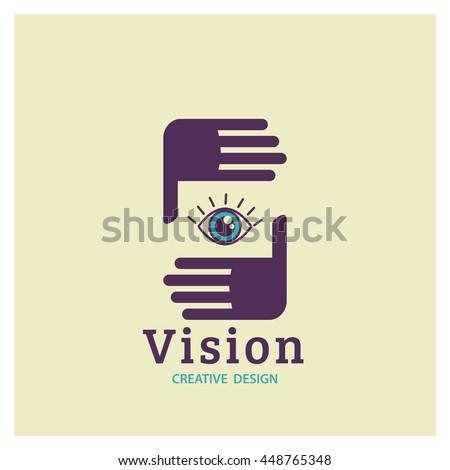 Eye Logo vision vector.  Creative Vision Logotype concept.