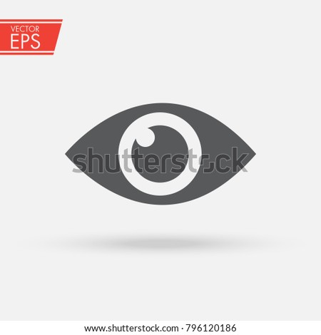 Eye , Look and Vision icon. Web site page and mobile app design vector element. Sign of view, look, opinion, glance, peek, , glimpse, dekko, eyebeam, eyewink and eye.
