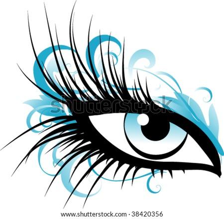 eye makeup stock vector illustration 38420356  shutterstock