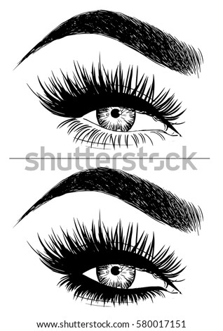 eye makeup with false eyelashes