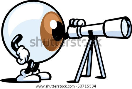 Eye Telescope Eye Man Telescope