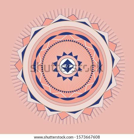 Eye Mystic Geometric Mandala Alchemy, astrology, esoteric, Masonic  hipster symbols. Abstract Vector Illustration