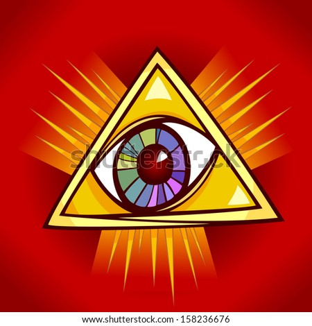Eye of Providence Cartoon Vector Illustration Clip Art