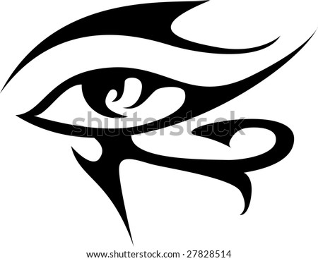 "Egyptian ""eye of Ra"" tattoo. eye of horus tattoo stock vector : Eye of Ra,"
