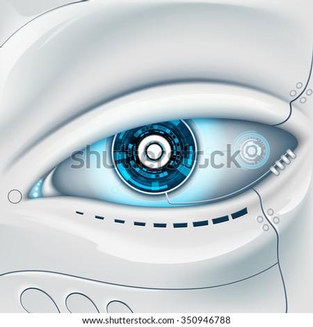 eye of the robot futuristic