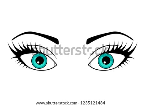 eye on a white background the