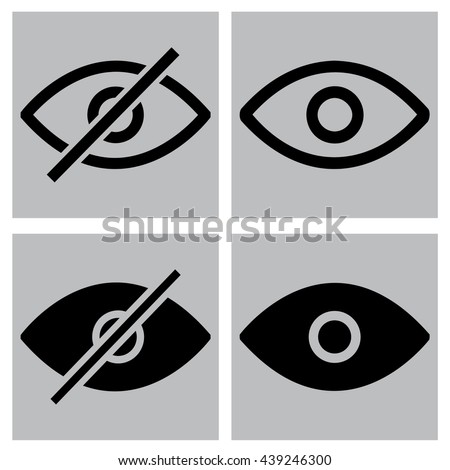 eye  show hide  icons