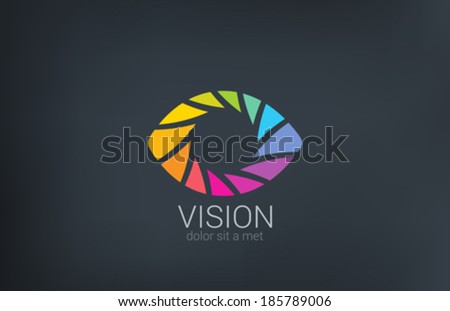 Eye shutter vector logo design template Photo video shooting concept Creative photography icon