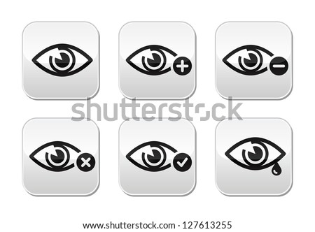 eye sight buttons set   vector