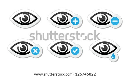 eye sight icons set   vector