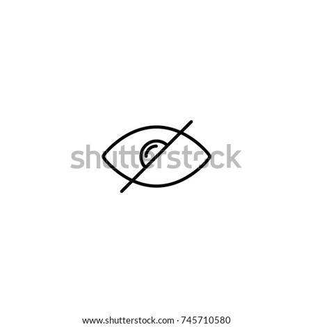 Eye slash icon vector illustration