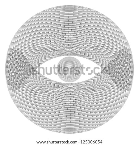 Eye Sphere.  Illustration on white background  for design