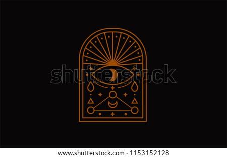 Eye symbol. Esoteric, Alchemy, sacred geometry, sacred geometry, mystic shapes, symbol and icon