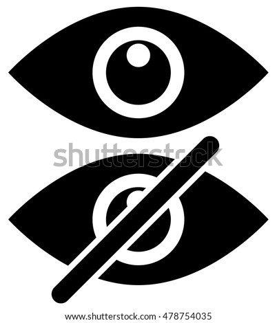 eye symbols as show  hide