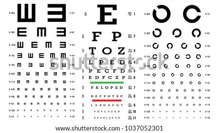 eye test chart vector vision