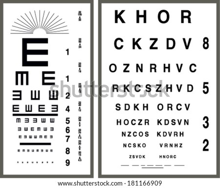 eye test letter poster vector