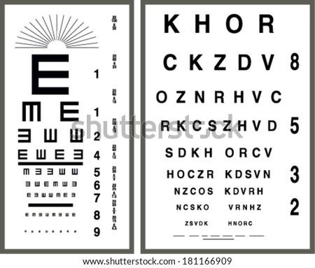 eye test letter poster vector