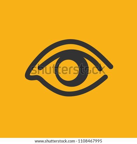 Eye vector icon design