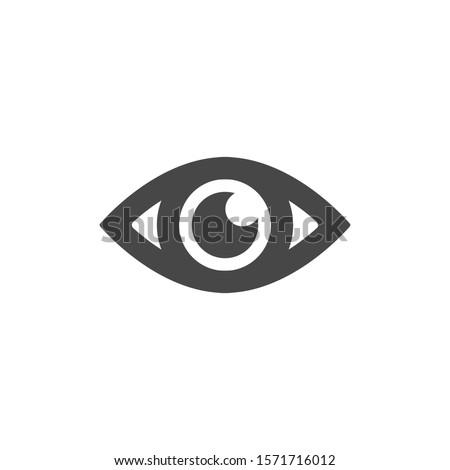 Eye vector icon. Open eye icon, The eye of the beholder. vector icon Web design icon. Symbol of the human eye.