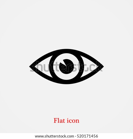 eye vector icon, vector best flat icon, EPS