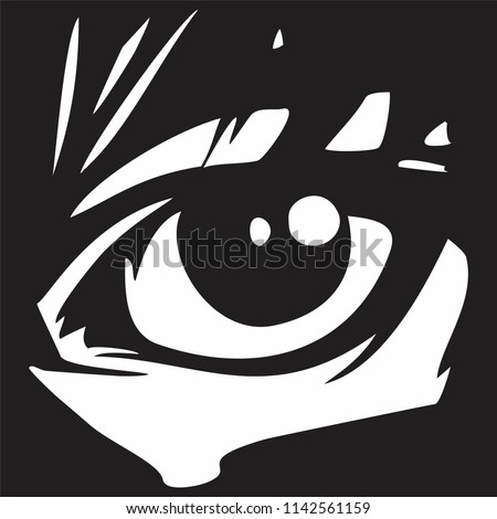 eye vector in the style of