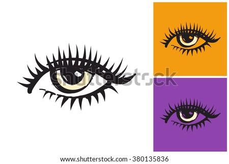 eye vector sketch in fashion