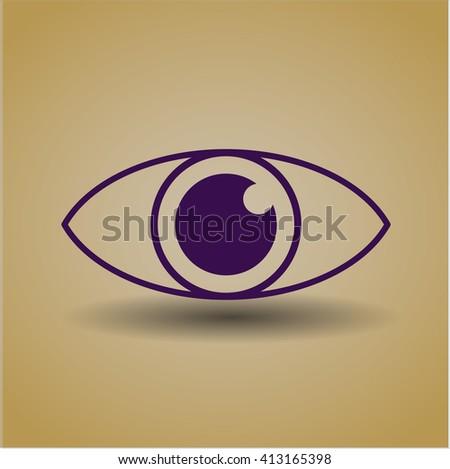 Eye vector symbol