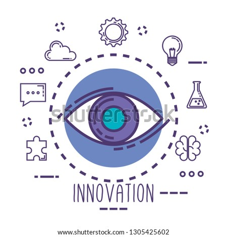 eye view with innovation icons