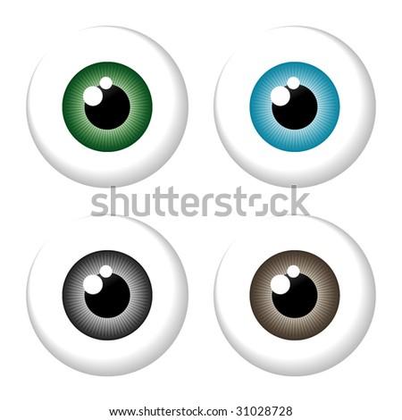 eyeball isolated