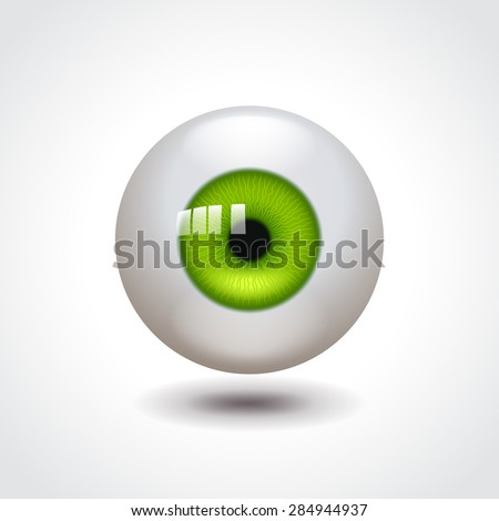 eyeball with green iris photo