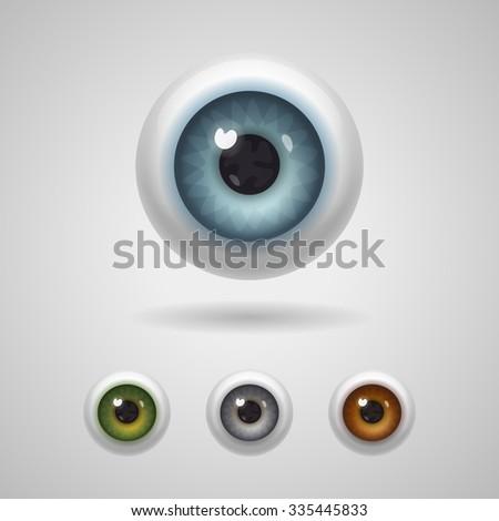 eyeballs with big irises of