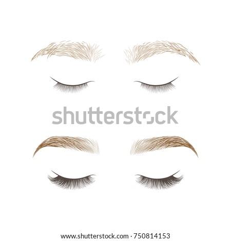 eyebrows desing and eyelashes