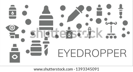 eyedropper icon set. 11 filled eyedropper icons.  Simple modern icons about  - Contact lens, Eye drops, Lens, Eyedropper, Eye dropper, Dropper, Pipette, Color picker