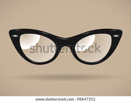 eyeglasses  cats eye shape...