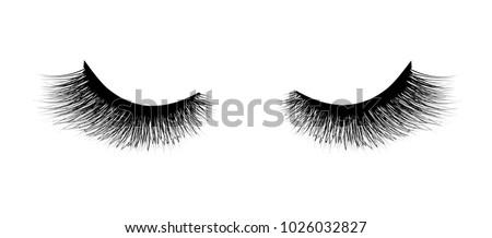 Eyelash extension. A beautiful make-up. Mascara for volume and length.