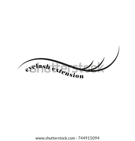 eyelash extension. emblem. icon. flat design.