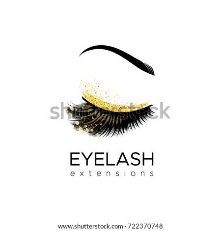 eyelash extension logo makeup