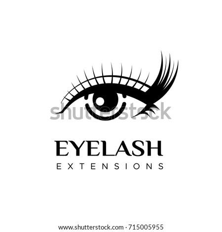 eyelash extension logo vector