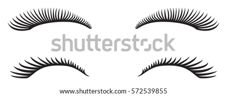 eyelashes vector design