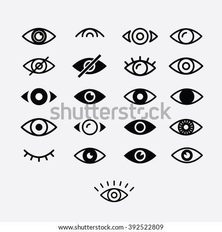 eyes and eye icon set vector