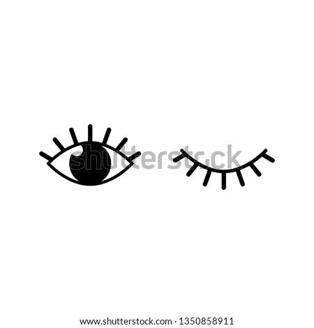 eyes and eyelashes icon vector