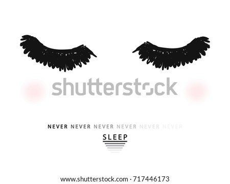 eyes and slogan print in vector